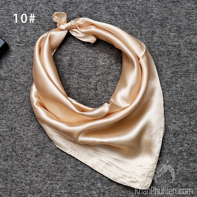 Giá bán Khăn Quàng Cổ Vuông Vải Lụa Satin Màu Be – Mã SD010 60 x 60 / be