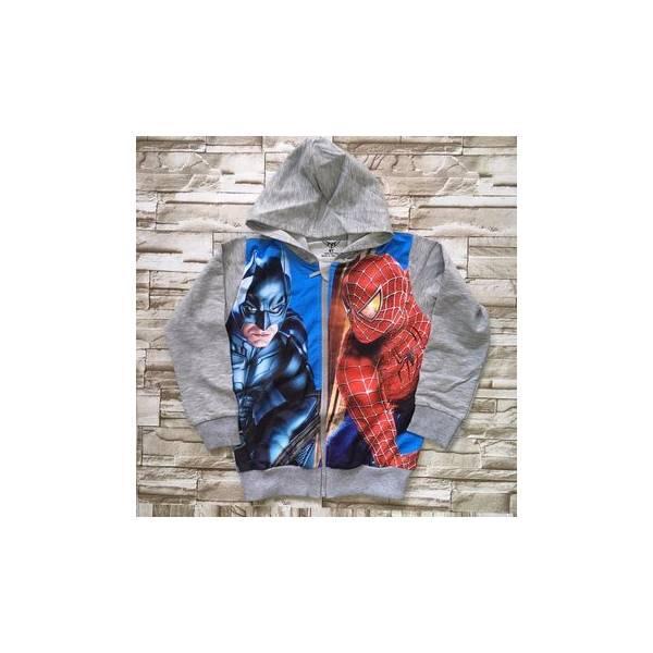 Khoác Thun Bé Trai In 3D Spiderman – Akt003 [26-36Kg]