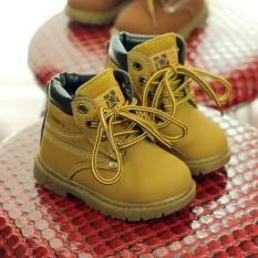 Trẻ em Bé Gái Bé Trai Anh Cắt Thấp Martin Giày Bốt Cổ Ngắn Tăng Mắt Cá Chân Bò (Màu Vàng)-quốc tế