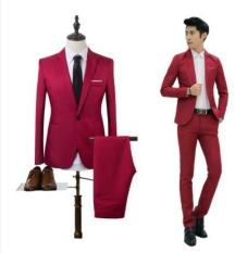 Bộ Vest Nam Slimfit bao gồm 1 áo Vest và 1 quần Âu_Màu đỏ