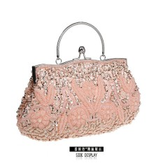 Lady handbag Hot selling fashionable style retro hand bag beaded dress package dinner package