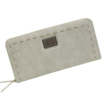 Lady Women Purse Clutch Wallet Short Small Bag Card Holder Grey - intl