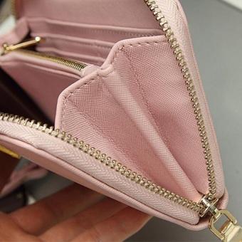 Lady Women Purse Clutch Wallet Small Bag Card Holder Pink - intl