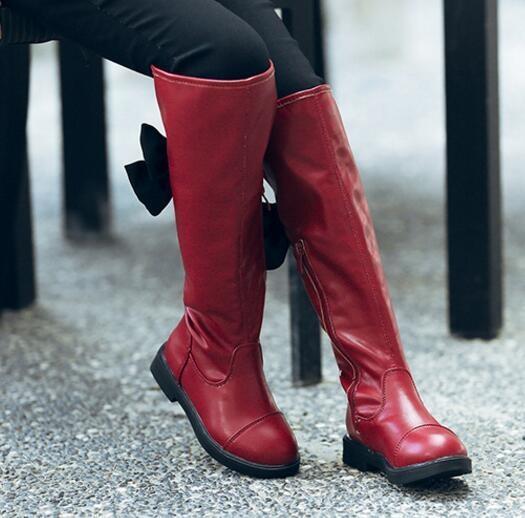 Leyi Trẻ Em giầy cao cổ thời trang giày công chúa-đỏ-quốc tế