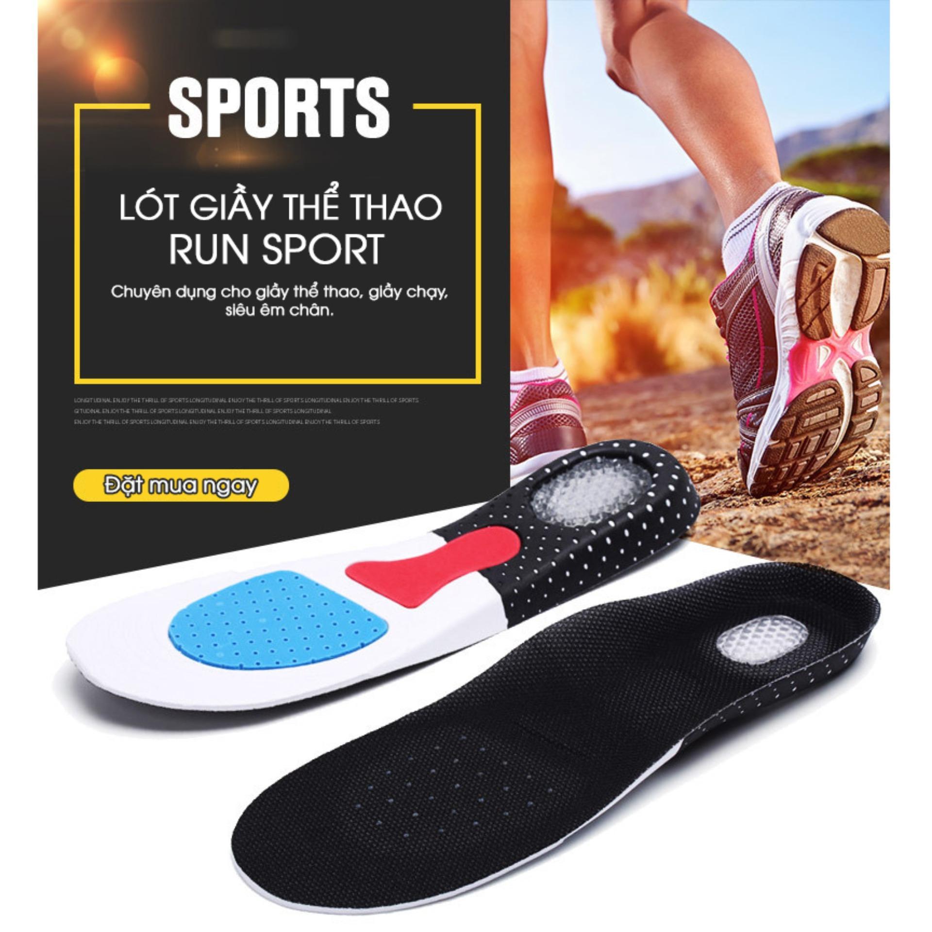 Lót giày nam cao cấp Run Sport (Đệm Sau Silicon Siêu Êm)