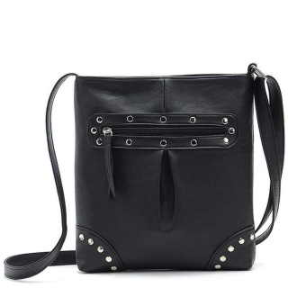 Low Profit Women Ladies Leather Shoulder Bags Messenger Hobo Bag(Black) - intl