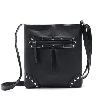 Low Profit Women Ladies Leather Shoulder Bags Messenger Hobo Bag(Black) - intl