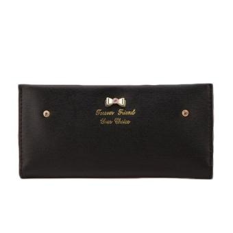 Luxury Lady Women Purse Clutch Wallet Simple Long Card Holder BagBlack - intl