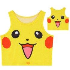 Makiyo Mới thời trang Gợi Cảm nữ phong cách đa dạng mẫu hoạt hình áo vest không tay (Pikachu) -quốc tế