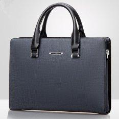 Men Business Tote Bag Men's Single Shoulder Bag Wear-resisting Briefcase (Blue / No Clutch) – intl