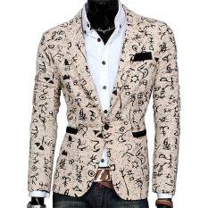 Áo Cotton Pha In Hình Hoa Đơn Cộc Tay (Ánh Sáng Kaki)-intl