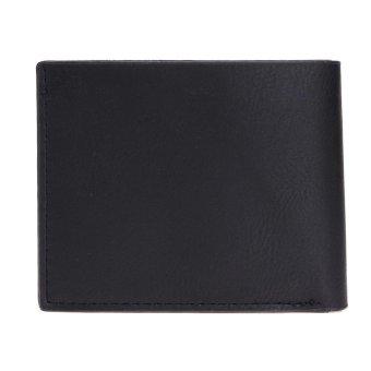 Men Leisure PU Leather Short Wallet Business Card Holder Purse(Black) - intl