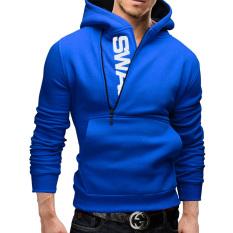 Men's Stylish Slim Fit Warm Hooded Sweatshirt Zipper Coat(Black) – intl