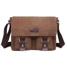 Nơi Bán Men's Vintage Canvas School Satchel Shoulder Messenger Bag(coffee) – INTL   sportschannel