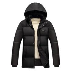Nam Mùa Đông Có Mũ Lông Thú Giả áo khoác ngoài-intl