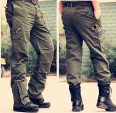 Quần quân phục Jean túi hộp_Size tùy chọn_Màu rêu