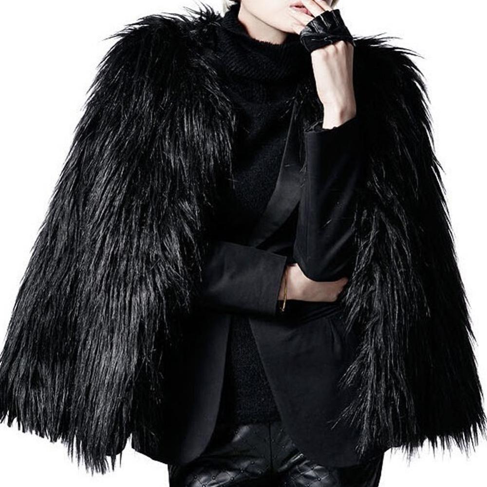 Bảng Giá Moonar Fashion Luxury Warm Winter Women Fur Imitation Overcoat Outwear Jacket Coat ( Black ) – intl