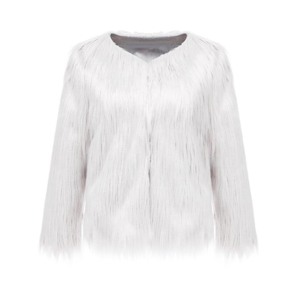 Bảng Giá Moonar Fashion Luxury Warm Winter Women Fur Imitation Overcoat Outwear Jacket Coat ( White ) – intl