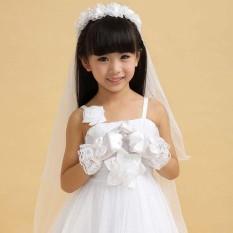 Moonar Girls Kids Gloves Children Princess Party Dress Bridesmaid Gloves 3-10Y-White – intl