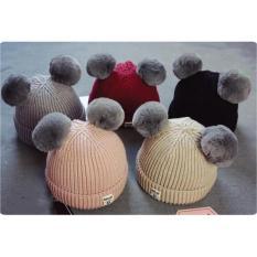 Mũ Len Hai Quả Bông Cho Bé
