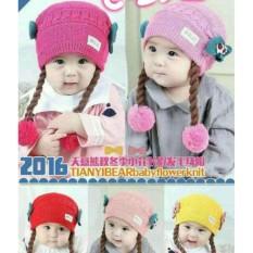 Mũ len kèm bím tóc giả cho bé từ 6 tháng đến 30 tháng tuổi