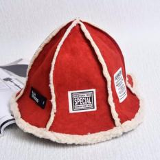 Mũ ( nón ) len tròn lót bông nữ phong cách Hàn Quốc họa tiết Những mảnh ghép xinh xắn ( Đỏ )