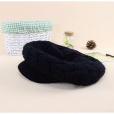 Mũ ( nón ) nồi len lót bông nữ phong cách Hàn Quốc – Hàng cao cấp ( Đen )