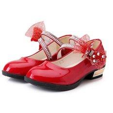Công Chúa mới Hoa Bé Gái Con Trẻ Em Giày Sandal Màn Trình Diễn Vũ Đạo Giày I100 Màu Đỏ-quốc tế