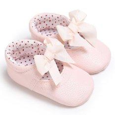 Sơ sinh-18 Tháng Mùa Hè Bé gái Bé Trai Trơn Mềm Mại Đế Giày Dễ Thương Giày S2004 Màu màu hồng-intl