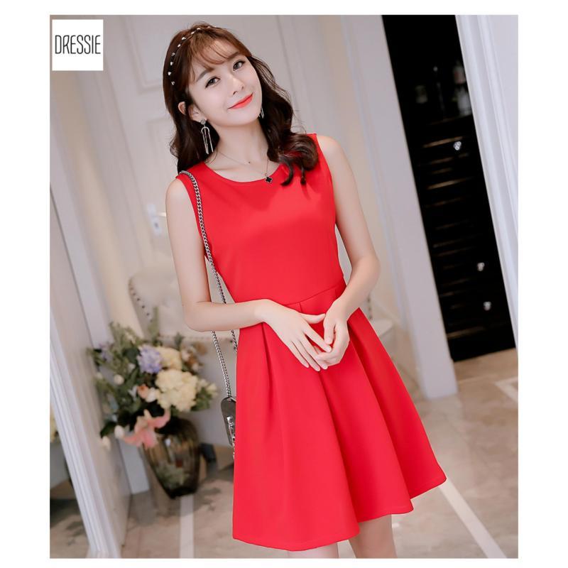 Nơi bán Những Kiểu Áo Đầm Xòe Nữ Đẹp Thời Trang Mới Nhất DRESSIE - DX1038B (Đỏ)
