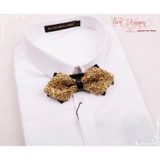 Nơ đeo cổ nam Hàn Quốc đính đá cao cấp