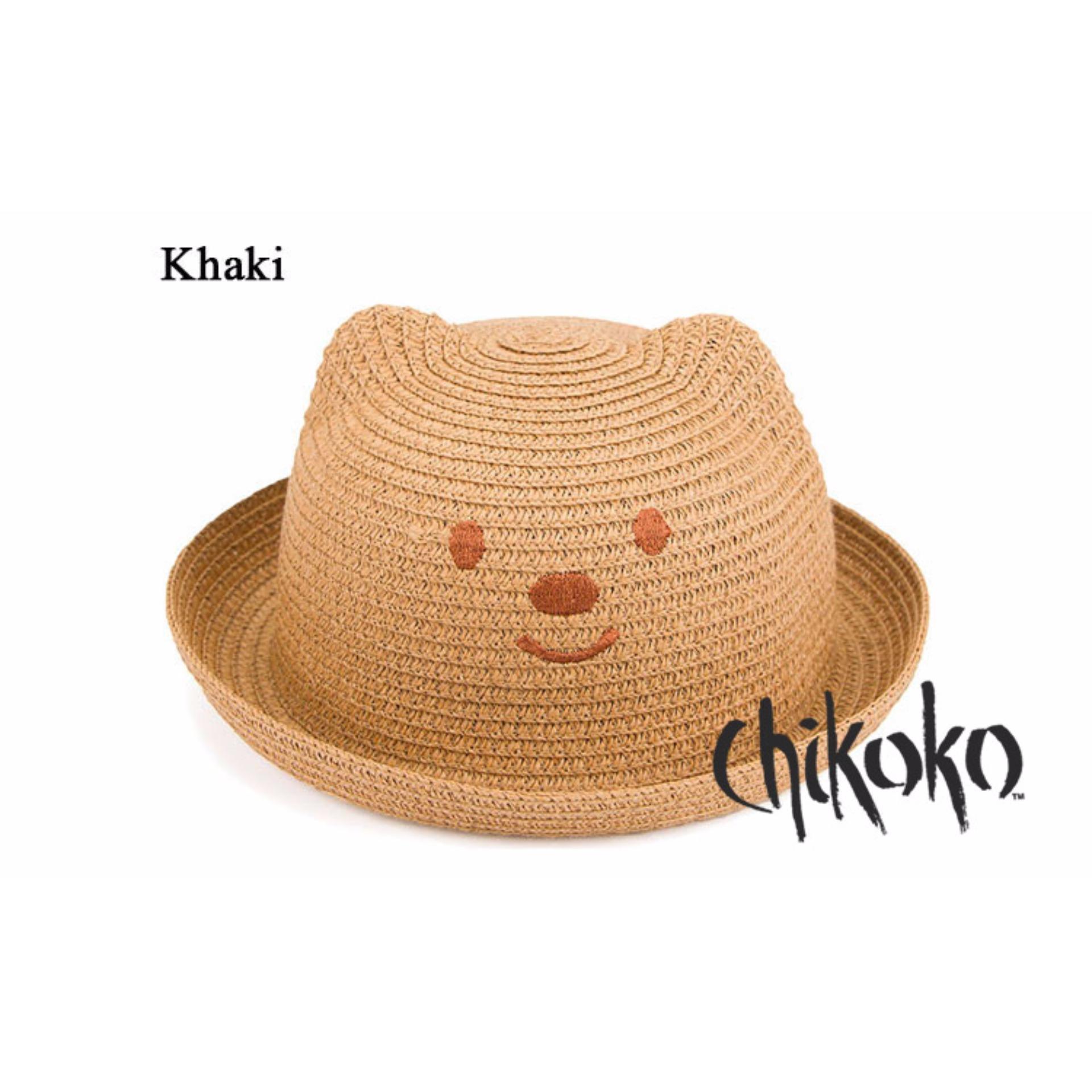 Nón cói bé trai BEAR Chikoko Thêu( be)