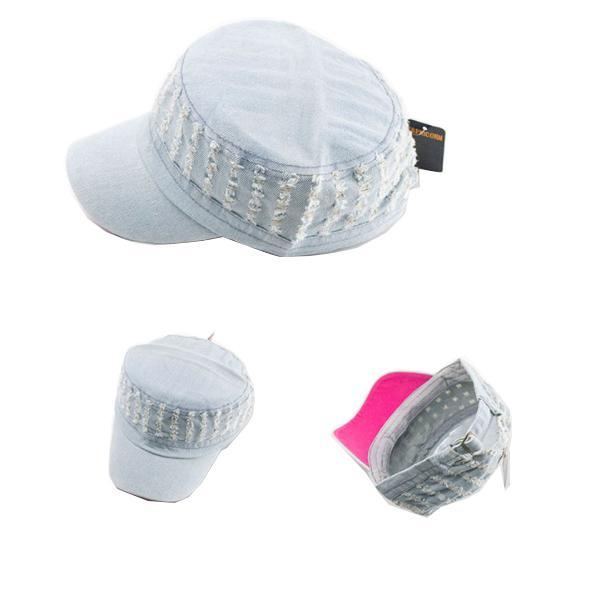 Nón (mũ) lưỡi chai nam nữ vải bò cào xước cá tính(SB9)