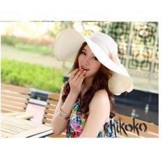 Nón nữ vành rộng có thể gấp gọn thời trang CHIKOKO (Be nhạt)