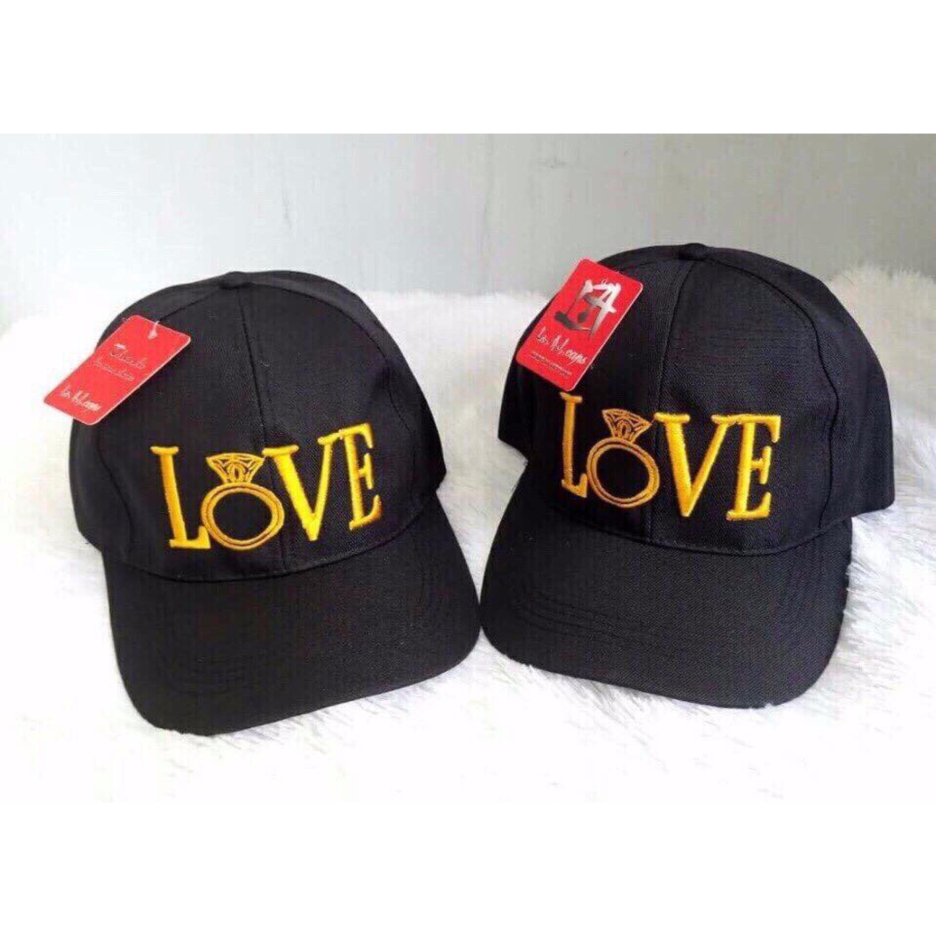 Nón thời trang nam chữ Love phong cách LyLyFashion (đen)