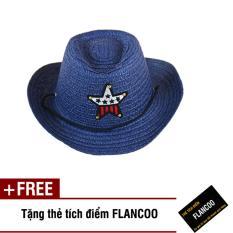 Nón trẻ em chất liệu cói Flancoo 8734 (Xanh đen) + Tặng kèm thẻ tích điểm Flancoo