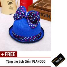 Nón trẻ em chất liệu cói Flancoo 8743 (Xanh đen) + Tặng kèm thẻ tích điểm Flancoo