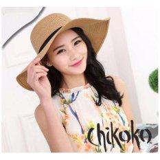 Nơi mua Nón vành rộng nơ xinh xắn CHIKOKO (Loại To-Màu đậm)