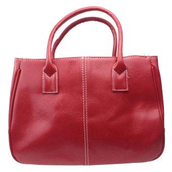 ooplm Fashion Women Simple PU Leather Clutch Handbag Totes Bag,Red - Intl - intl