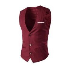 PAlight Fashion Men Vest Slim Fit Suit Sleeveless Formal