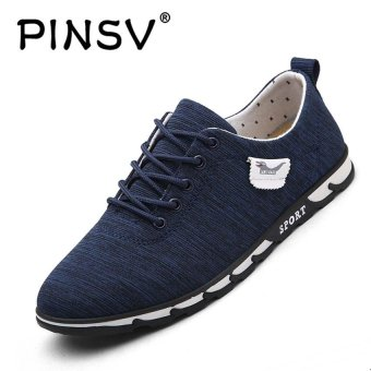 PINSV Mens Casual Shoes Breathable Fashion Sneakers (Blue) - intl