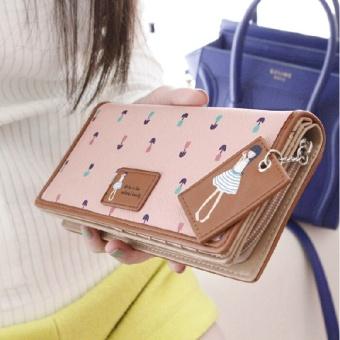 Premium PU Leather Multifunctional Fashion Women Wallet - intl