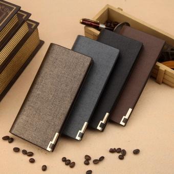 Premium PU Leather Multifunctional Large Capacity Men Wallet - intl