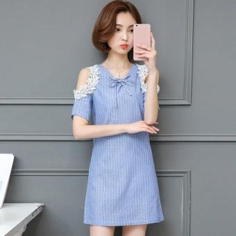 Pudding Korea Korean fashion stripe lace maternity dress-Dark blue - intl - 8476486 , OE680FAAA961L1VNAMZ-18138842 , 224_OE680FAAA961L1VNAMZ-18138842 , 256000 , Pudding-Korea-Korean-fashion-stripe-lace-maternity-dress-Dark-blue-intl-224_OE680FAAA961L1VNAMZ-18138842 , lazada.vn , Pudding Korea Korean fashion stripe lace mater