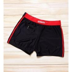 Quần bơi nam có túi đen phối đỏ