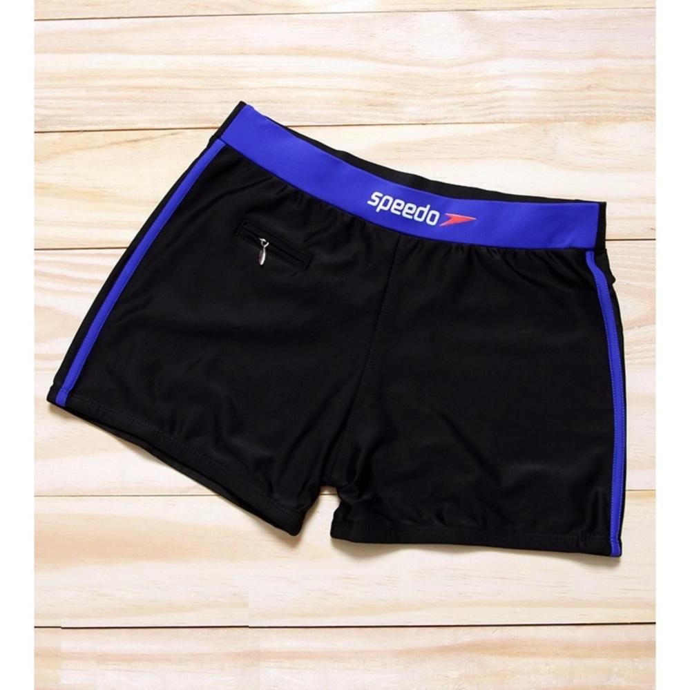 Quần bơi nam có túi đen phối xanh bích