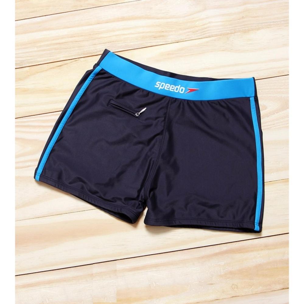 Quần bơi nam có túi đen phối xanh da