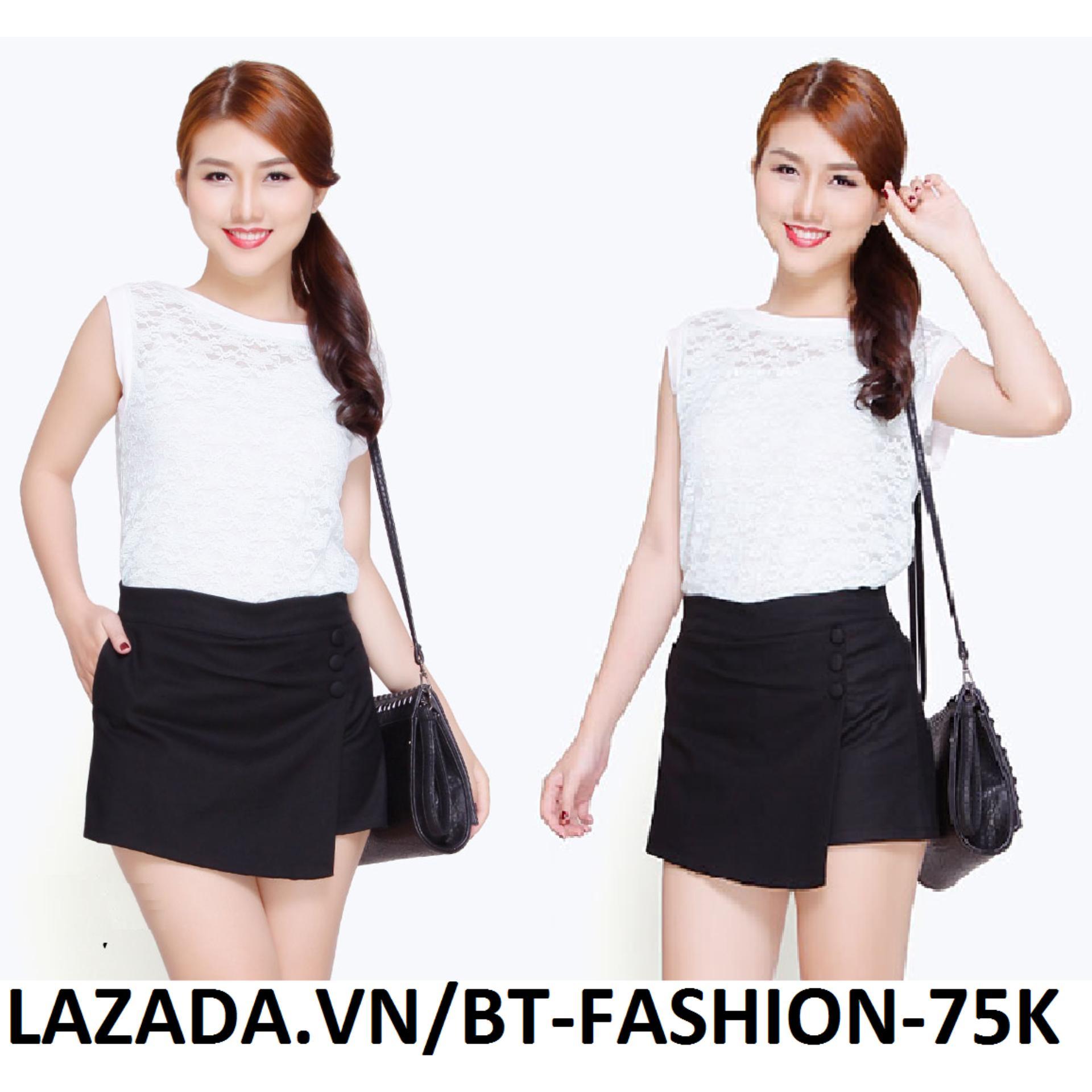 Váy / Quần Giả Váy Dây Kéo Thời Trang Hàn Quốc - BT Fashion (SO)