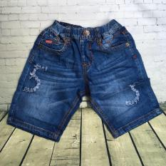 Quần lửng jeans mềm cào rách chữ S từ 22kg đến 34kg – QT221