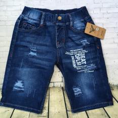 Quần lửng jeans wash rách in chữ lưng thun từ 39kg đến 41kg – QT237